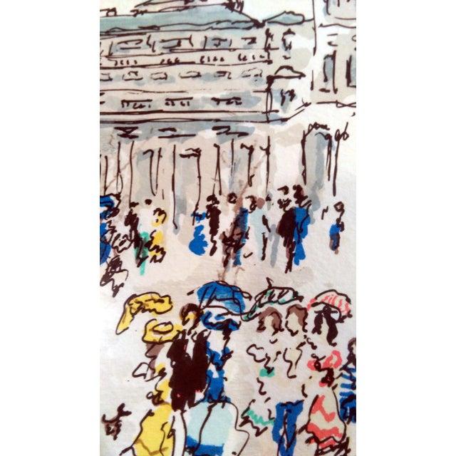 "Urbain Hutchet ""Paris, Palais Royal Ii"" Lithograph - Image 6 of 7"