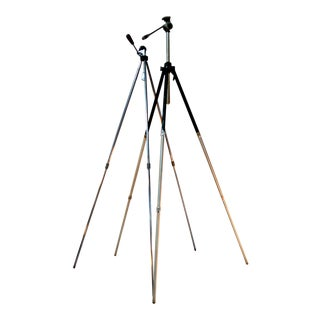 Vintage Adjustable Telescopic Camera Tripod - A Pair