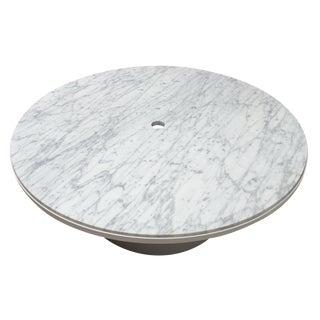 Blu Dot White Marble Plateau Coffee Table