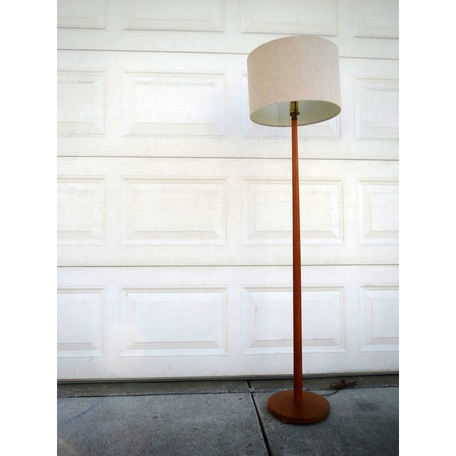 Image of Mid-Century Scandanavian Teak Floor Lamp