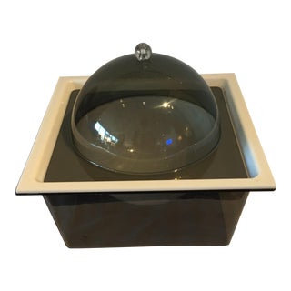 Smoky Acrylic Square Serving Box