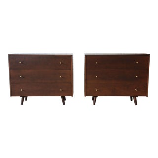 Pair of Paul McCobb Planner Group Three-Drawer Bachelor Chests