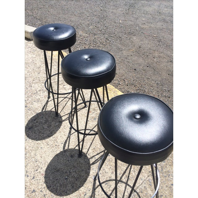 Image of Frederick Weinberg-Attributed Bar & Bar Stools