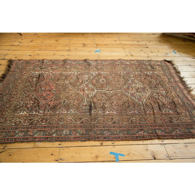 "Antique Kamseh Rug - 4'6"" x 6'8"" - Image 6 of 10"