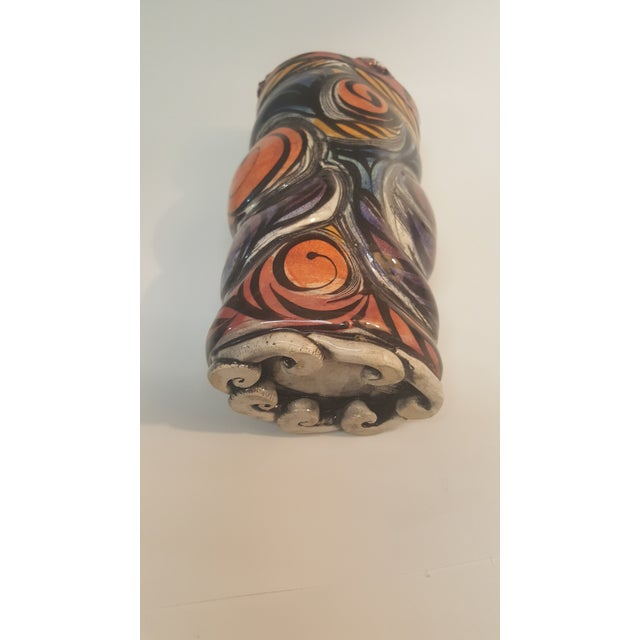 Image of 1996 Buxton Taylor Face Motif Vase