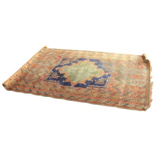 Vintage Hand Knotted Persian Rug - 4′6″ × 6′6″