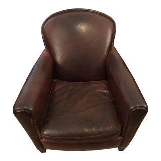 Pottery Barn Leather Armchair
