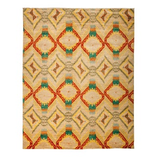 """Ikat, Hand Knotted Area Rug - 7' 10"""" X 9' 10"""""""