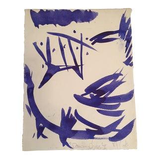 "Vintage Original ""Dancing Chicken"" Drawing by Robert Cooke"