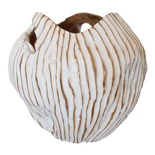 Hand Carved Teak Bowl