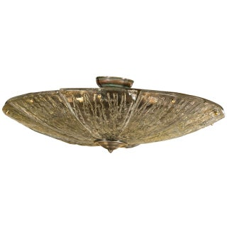 Lalique Style French Flush Light Fixture