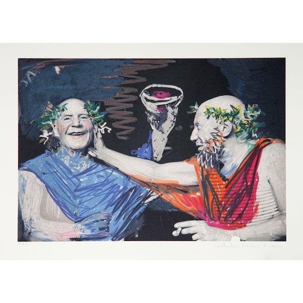 "Pablo Picasso, ""Picasso Et Manuel Pallares,"" Print - Image 1 of 2"