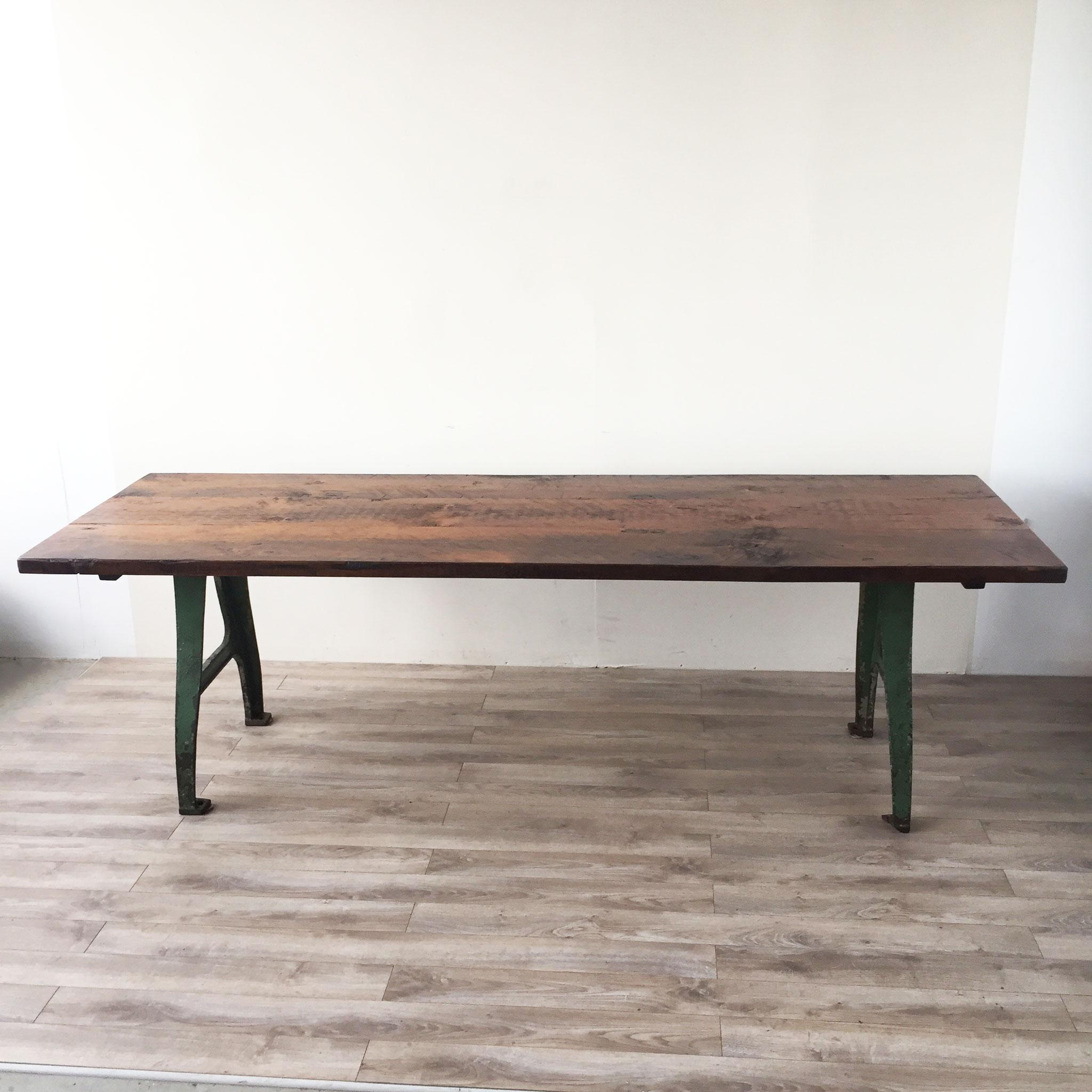 Cast Iron Base Reclaimed Wood Dining Table Chairish : 0ac28b8c c1ba 41e0 aea6 93a52735dd8aaspectfitampwidth640ampheight640 from www.chairish.com size 640 x 640 jpeg 37kB