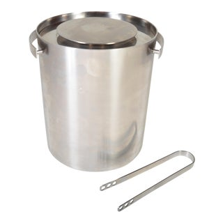 Vintage Swedish Stainless Steel Ice Bucket By Arne Jacobsen for Stelton