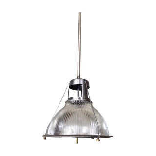 Vintage Industrial Holophane Pendant Light