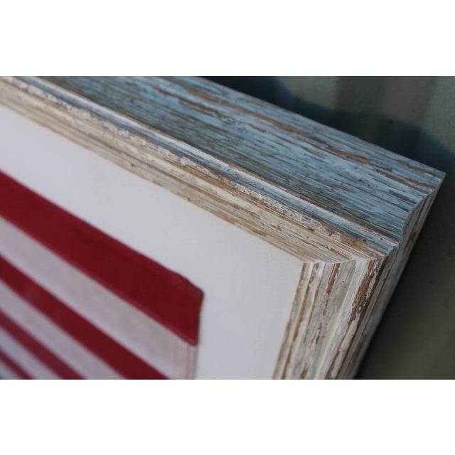 Mid-20th Century 50 Star American Ships Flag with Custom Frame - Image 4 of 5