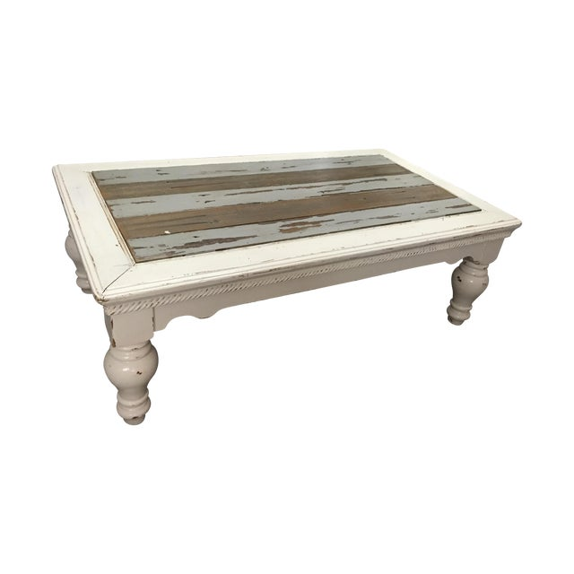 Vintage French Provincial White Coffee Table - Image 1 of 11