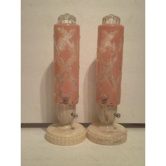 1940s-50s Art Deco Electrolite Vanity Lamps - Pair - Image 2 of 10