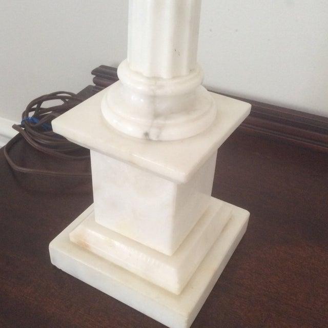 Alabaster Column Lamp - Image 9 of 9