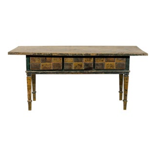 19th Century Spanish Painted Wood Console Table
