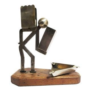 Art Deco Machine Age Man Cigarette Holder/ Ashtray