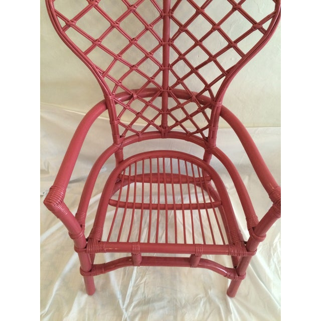 Ficks Reed Pink Lacquered Rattan Fan Chair Chairish