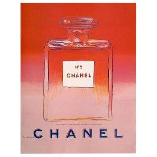 Andy Warhol Linen Backed Screen Print for Chanel