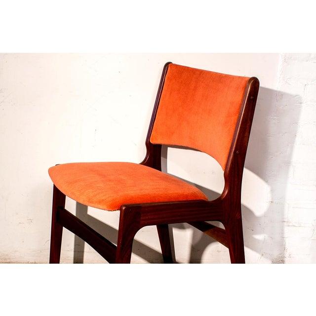 Arne Vodder Style Teak Side Chairs - Set of 4 - Image 4 of 9
