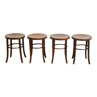 Thonet Bentwood Bistro Stools - Set of 4