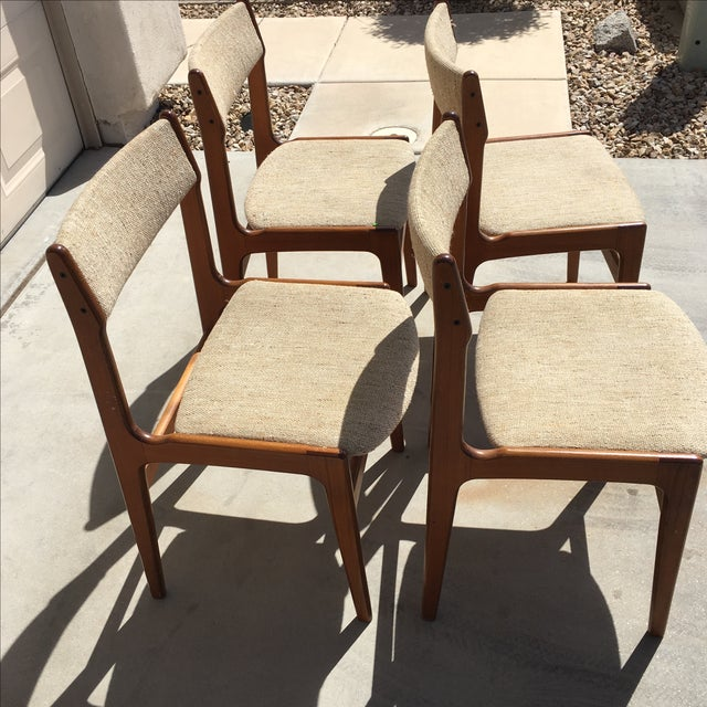 Mid-Century Modern Danish Dining Chairs - Set of 4 - Image 3 of 10