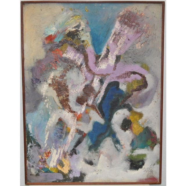 Vintage 1960's Abstract Painting - Image 2 of 4