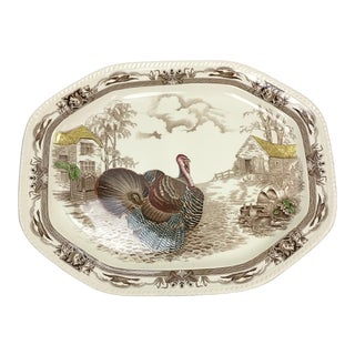 English Transfer-Ware Turkey Platter