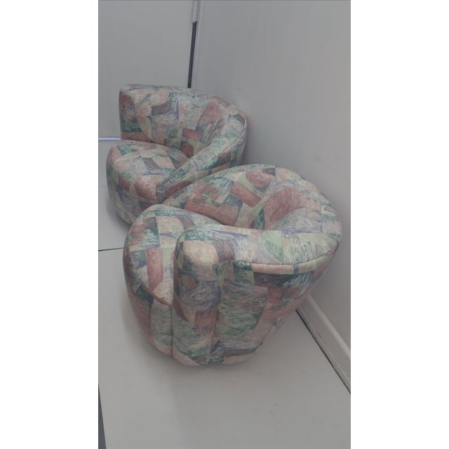 Image of Vladimir Kagan Swivel Chairs - A Pair