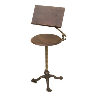 Antique Adjustable Reading Easel Table