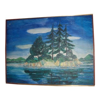 Trees on an Island Painting by Robert Blanchard