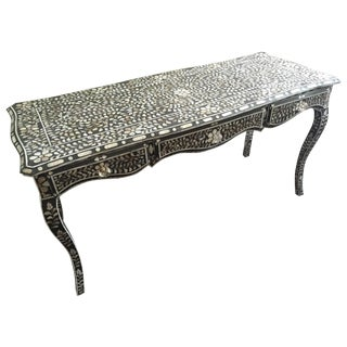 ABC Home Charcoal Mother of Pearl Desk