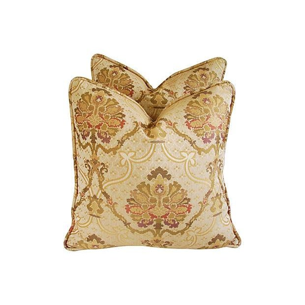 Custom Italian Old World Tapestry Pillows - A Pair - Image 3 of 7