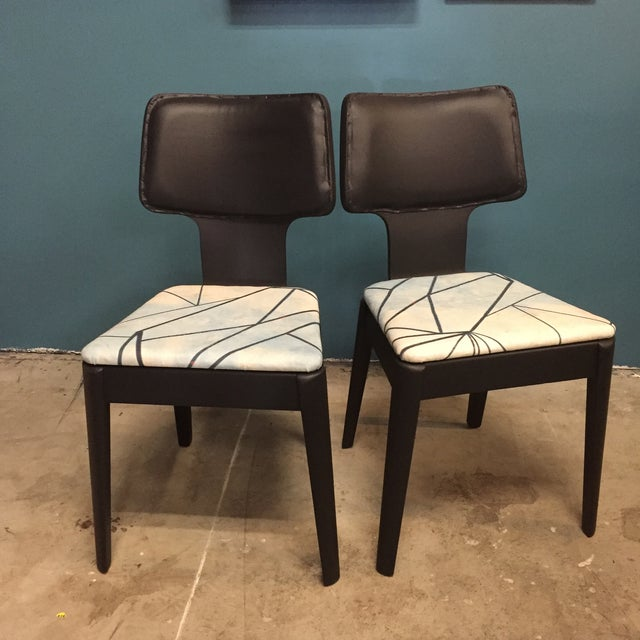 Image of Black Mid-Century Bentwood Chairs - Pair