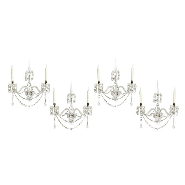 Two Pair of Exceptional F. & C. Osler Crystal Sconces - Image 11 of 11