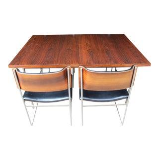 Mid-Century Plywood & Aluminum Dining Set