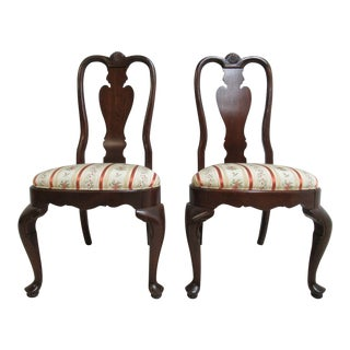 Ethan Allen Georgian Court Shell Carved Dining Room/Side Chairs - A Pair