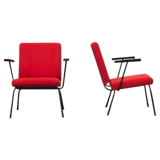 Wim Rietveld No. 9 Lounge Chairs for Gispen - Pair