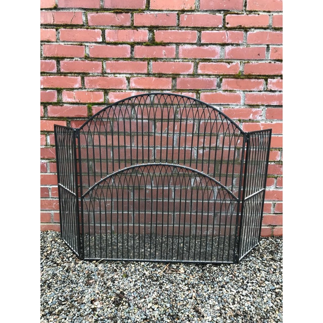 Black Iron Fireplace Screen - Image 2 of 5