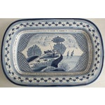 Image of Nazari Blue & White Hand Painted Portuguese Platter