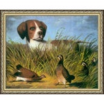 """Image of 1854 """"On Point"""" Print by D.G. Stouter"""