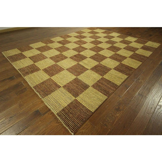 "Checkered Gabbeh Kashkuli Rug - 8'2"" x 10'6"" - Image 2 of 10"