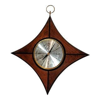 Mid-Century Teak Elgin Clock