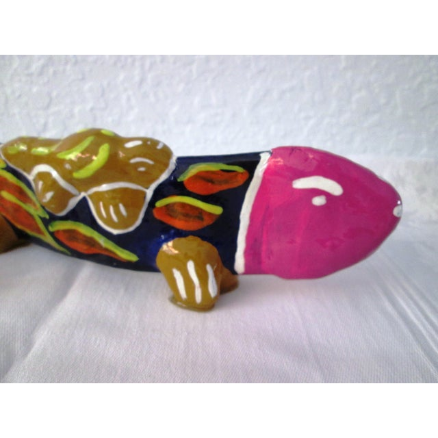 Vintage Mexican Hand Made Maraca Fish - 3 - Image 4 of 7