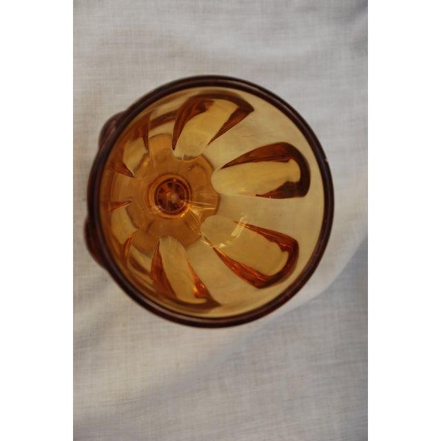 Vintage Amber Depression Glass Lidded Jar - Image 6 of 11