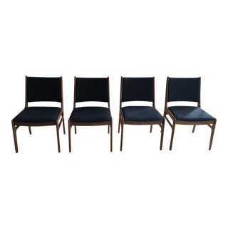 Mid Century Wooden Dining Chairs - Set of 4